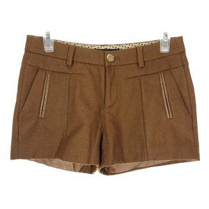 PORAINER Wool Shorts Mid Rise Brown Lined Size 26